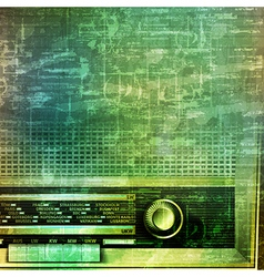 abstract music grunge vintage background with vector image