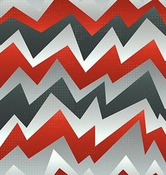 abstract red zigzag seamless pattern with grunge vector image