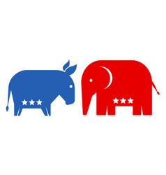american political parties vector image
