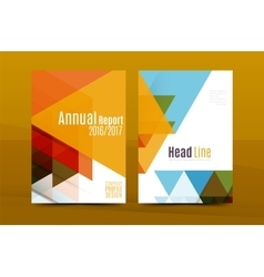 Annual Report A4 page cover vector image
