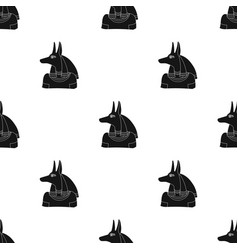 anubis icon in black style isolated on white vector image