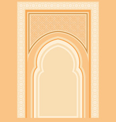 arabic architectural background vector image
