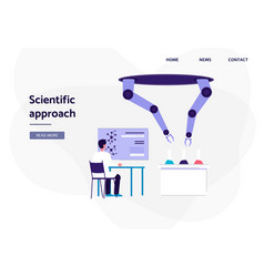 artificial intelligence and scientific approach vector image