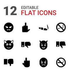 Bad icons vector