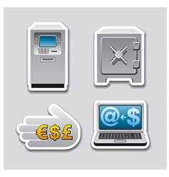 banking stickers vector image