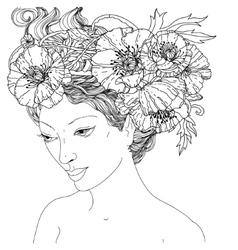 Beautiful fashion women vector