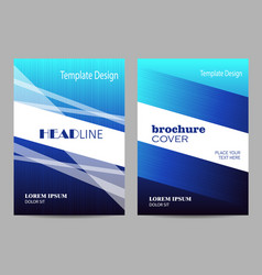 brochure template layout design abstract blue and vector image