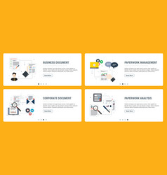 Business management corporate and analysis vector