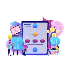 Business process management concept vector