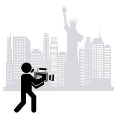 cameraman icon vector image