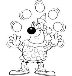 Cartoon clown juggling balls vector