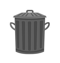 Cartoon metal garbage bin vector