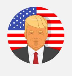 character portrait donald trump on american vector image