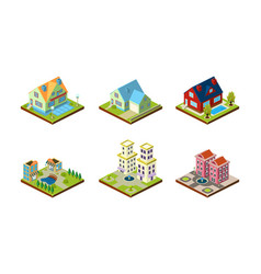 city buildings set urban landscape esign elements vector image