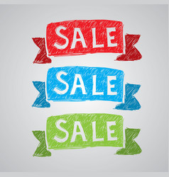colorful creative sale poster vector image