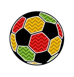 colorful football ball vector image