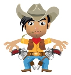 Cool guy fictional character in wild West style vector image