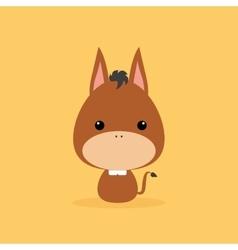 Cute Cartoon Wild donkey vector