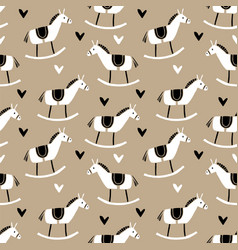 Cute christmas seamless pattern with hand drawn vector