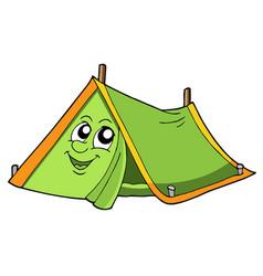 Cute tent vector