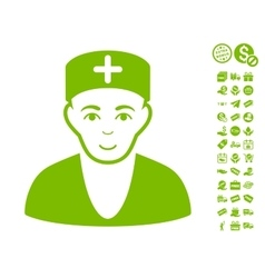 Doctor Icon With Free Bonus vector