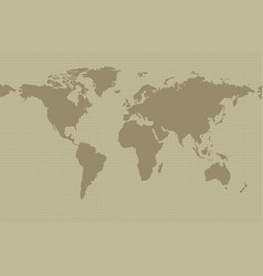 earth map on khaki background vector image
