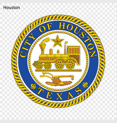 emblem of houston vector image