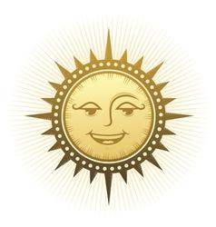 Ethnic laughing sun vector