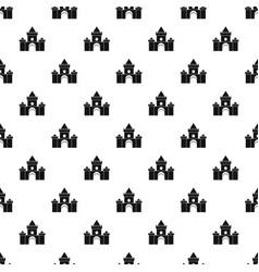 Fairytale castle pattern vector