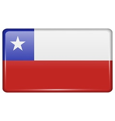 Flags Chile in the form of a magnet on vector