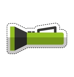 flash lantern isolated icon vector image