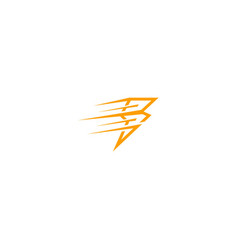 flash speed bolt logo vector image