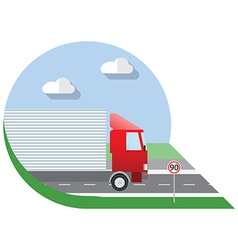 Flat design city Transportation truck for vector image