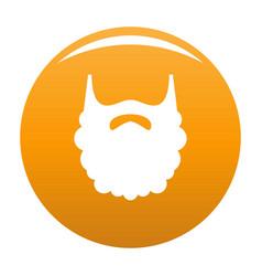 Fluffy beard icon orange vector