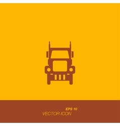 Freight car icon in flat style vector image