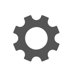 gear icon simple flat symbol perfect vector image