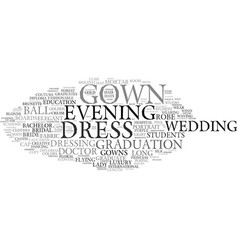 Gown word cloud concept vector