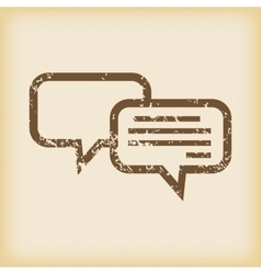 Grungy chatting icon vector