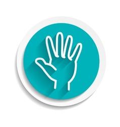 hand concept white sign symbol icon vector image