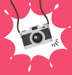 hanging camera in a flat style concept vector image