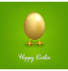 Happy Easter Card With Golden Egg vector
