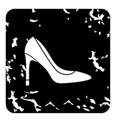High heel shoe icon grunge style vector
