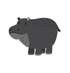 hippo cute cartoon hippopotamus adorable vector image