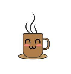 Kawaii cute happy coffee cup vector