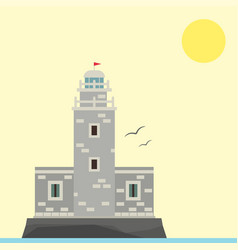 lighthouses flat searchlight towers vector image