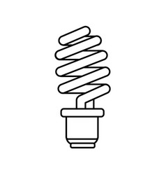 line save energy light bulb vector image