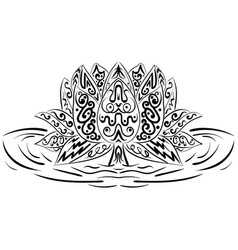 Lotus flower water lily zentangle element vector