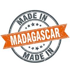 Madagascar orange grunge ribbon stamp on white vector image