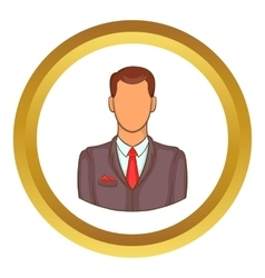 Man in suit avatar icon vector