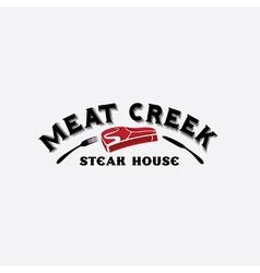 meat creek steak house vector image